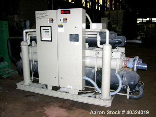 Used: Trane water cooled chiller system consisting of: (1) Trane 120 ton water cooled indoor chiller, model RTWA1254XE01D3C0...