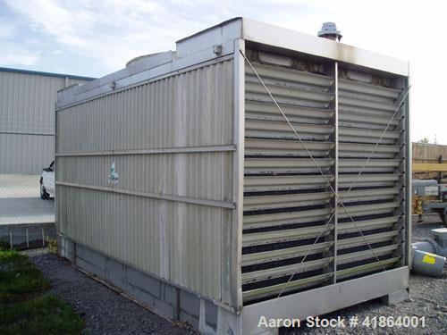 Used-Tri-Thermal 300 Ton Stainless Steel Cooling Tower. Flow rate of approximately 900 gpm.
