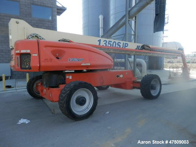 Used- JLG 1350SJP Ultra Lift.  Articulating and telescopic. Max lift height: 135 ft.  Max horizontal reach: 80'.  Unrestrict...