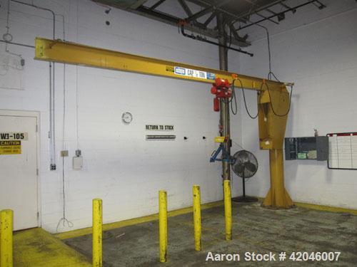 Used-Contrx 1/2-Ton Capacity Boom Crane, w/ Dayton 1-Ton Capacity Electric Chain Hoist