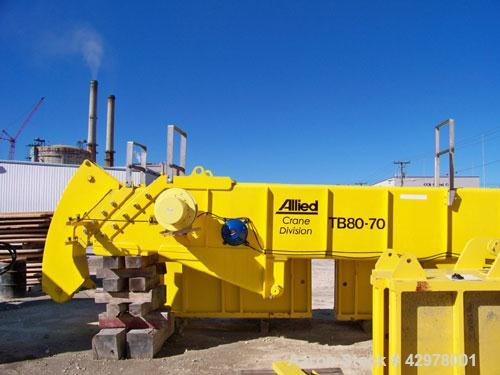 Used-Allied Marine Crane, Model TB 80-70.  60,000 lb max rated load.  30 ft/min max hoist speed, 0.25 rpm max swing speed, a...