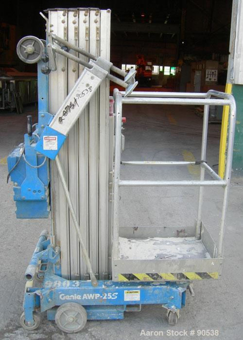 """Used: Genie Aerial Work Platform, model AWPA-25S. 30'10"""" working height, 24'10"""" platform height, up to 350 pound capacity. D..."""