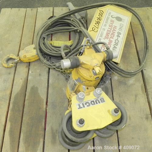 Used- Budgit Air Hoist, Series 2284, Model 115325.  Capacity 1500#.