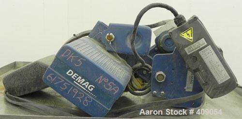 Used-Demag 1/2 Ton Hoist, Type DKUN5-500KV1F, Chain 5 x 15. .85 KW, 3/50/415 Volt, 2770/665 RPM.