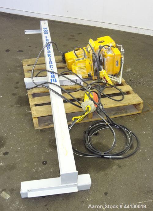 Used- Harrington 1 Ton Hoist, Size C, Duty Class H4, Code N ER010L, Lot#ER1A- 795Y3215, Lifting Speed 16 feet per minute. In...