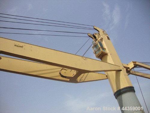 Used- O & K Marine Crane, Model K40T-22M.  40 Tons, boom length 22 meters.  Manufactured 1991.