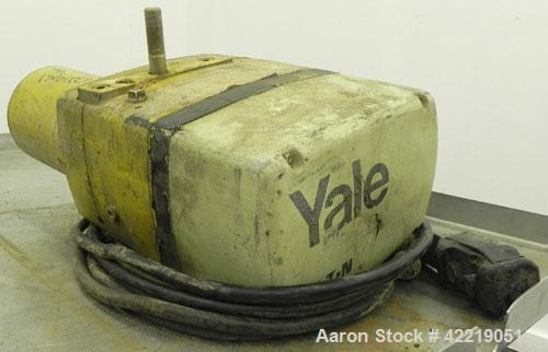 Used- Yale 1/2 Ton Electric Chain Hoist, model KEL1/2-10H15S1. Driven by a 1/2 hp, 1/60/115/230 volt, 1725 rpm motor..