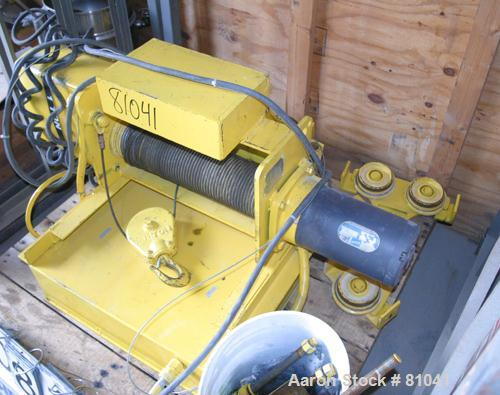 USED: Yale trolley hoist, model KEW1-35RT30/1052. 1 ton (2000 pound) capacity. Hoist motor 2-.67 hp, 3/60/460 volt, 3150/114...