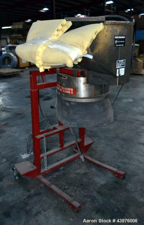 Used- C.S. Bell Glass Crusher, Model HMG-05P-MSS, Stainless Steel.  Rated capacity over 2 tons per hour, accepts containers ...