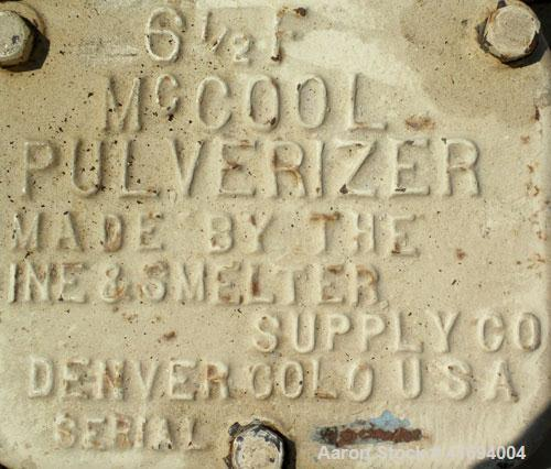 Used- McCool Laboratory Disc Pulverizer and Denver Equipment Laboratory Jaw Crusher, carbon steel. McCool disc pulverizer, m...