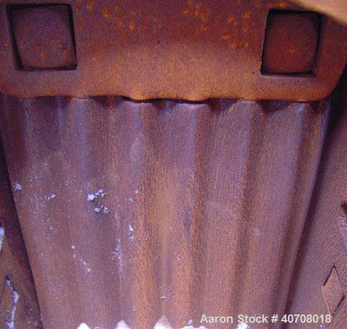 Used- Denver Equipment Company 8 x 10 Jaw Crusher, Type H, carbon steel. Top feed with  hopper, bottom discharge. Driven by ...