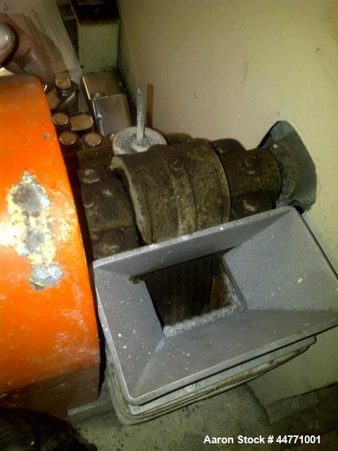 Used-McCool Laboratory Disc Pulverizer and Denver Equipment Laboratory Jaw Crusher, carbon steel.  McCool disc pulverizer mo...