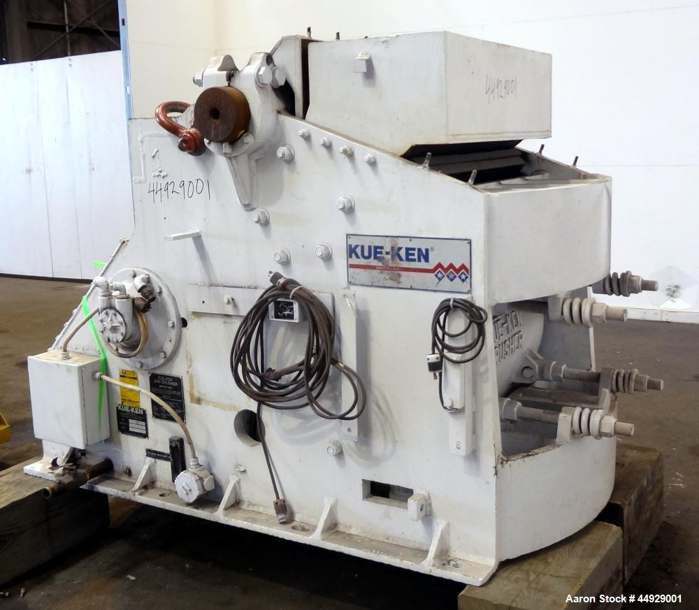 """Used- Kue Ken Jaw Crusher, Model 10 X 36, Carbon Steel.  Approximate feed 10"""" x 36"""". Capacity in short tons per hour 1"""" at 3..."""