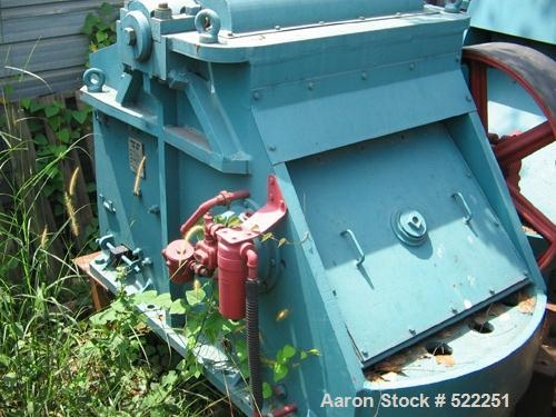 "USED: Kue Ken 10"" x 36"" jaw crusher. Crusher #80 excluding motor,pulley and belts. Capacity 3/4"" to 3"" product size up to 10..."