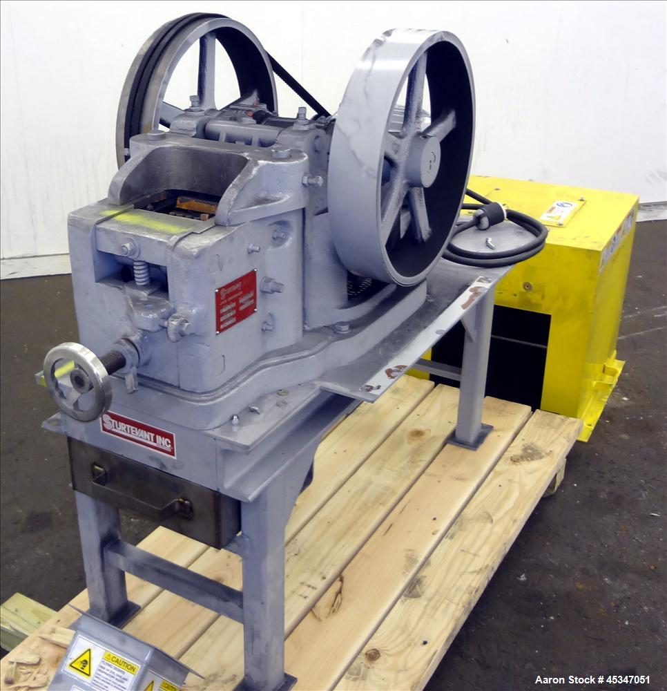 Used-Sturtevant Jaw Crusher Model 2X6. Driven by a 2 hp, 208-230-460 volt, 1170