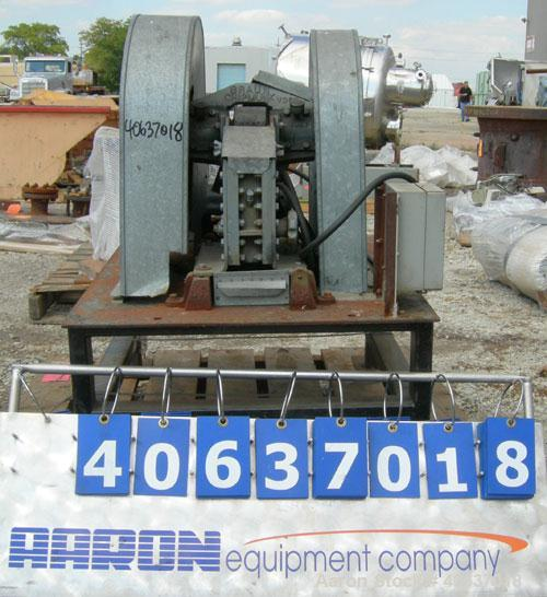 "Used- Bico Braun Chipmunk Jaw Crusher, Model VD, Carbon Steel. Jaw capacity 2-1/4"" x 3"". Rated 400 pounds an hour. Reduction..."
