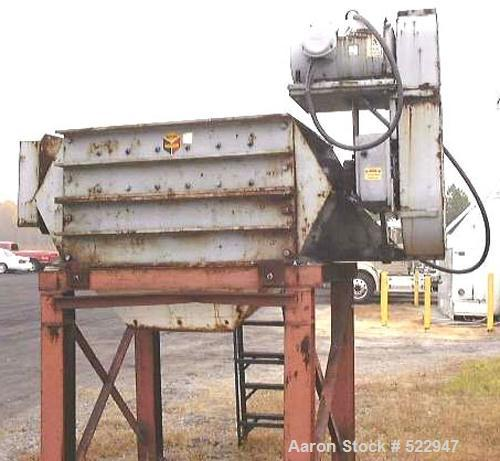 """USED: 48"""" x 48"""" inlet Scott """"Dominator"""" model CR48-48 dual rollcrusher with spiral placed cutter bars on the rolls. Loose in..."""