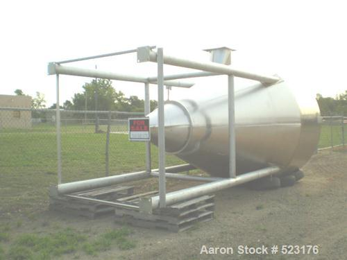 Unused-NEW: Stainless steel cyclone tank, 10' diameter x 25' overall heightfrom bottom of legs to top of the hopper. Made of...