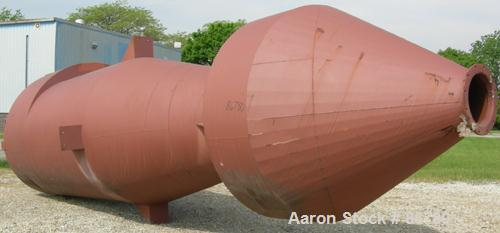 """Unused- C.P. Environmental Filters Cyclone, model CF-80-25, carbon steel. Approximately 30,000 ACFM. 80"""" diameter x 12' stra..."""