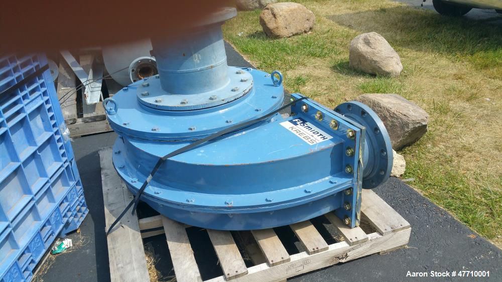 "Used- Krebs Hydrocyclone, Model W-260. 26"", rated for 1800 gpm, ceramic lined."