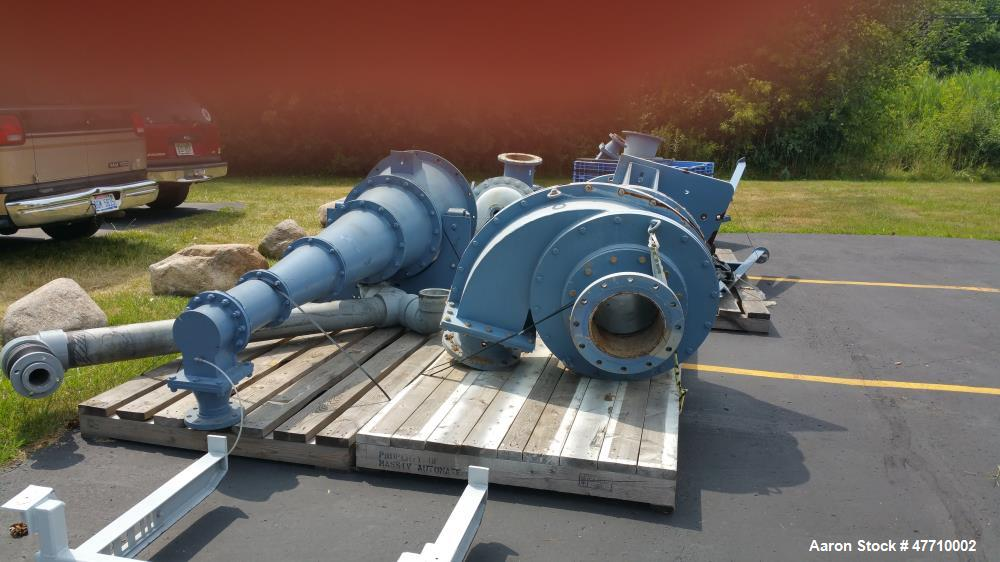 """Used- Krebs Hydrocyclone, Model W-260. 26"""", rated for 1800 gpm, ceramic lined."""