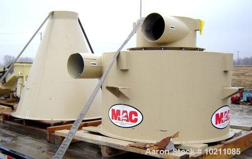 "Used-Unused-MAC Cyclone, Model F151, 52"" Diameter. Carbon steel construction. Unit has a 10"" inlet and 10"" outlet. Boltable ..."