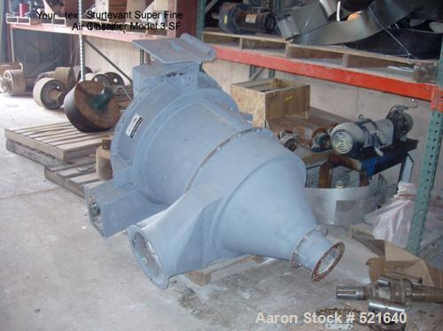 """USED: Sturtevant 36"""" Super Fine Classifier, model 3SF, carbon steelconstruction. Air flow approximately 3,000 cfm. Feed rate..."""