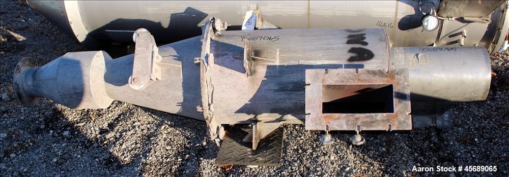 Used- Van Tongeren Regenerator Cyclone, 304 Stainless Steel.