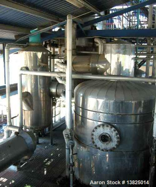 Used- Deodorizer and Physical Refining System, stainless steel. Rated for 60 mtpd (5,500#/hr). Two deodorizing/refining unit...