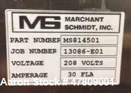 Used- Marchant Schmidt, Model C40, Exact Weight Cheese Cutting System. Unit can cut a 40 lb. (20 kg.) cheese blocks to a por...