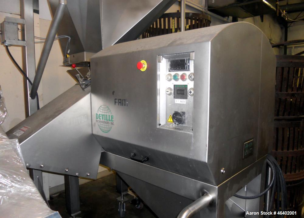 Used- Deville Cheese/Meat /Strip Dicer/Cutter, Model CMD-3D. Stainless steel. Rated approximately 6,000 to 10,000 lbs per ho...