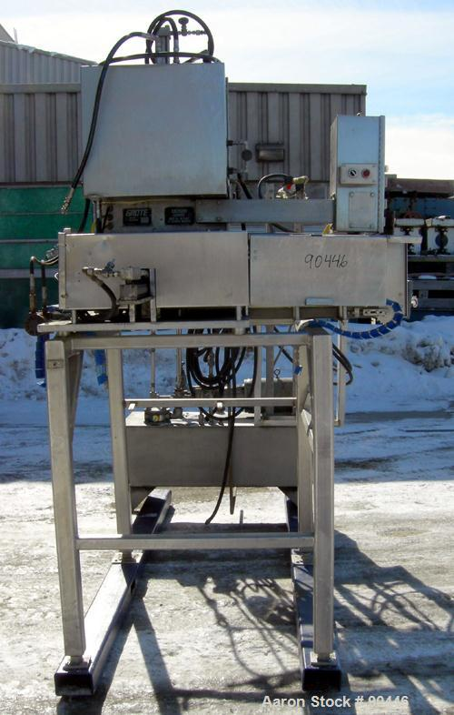 Used- Grote Cheese Shredder, Model 200-D-100, 304 Stainless Steel. Approximate capacity 20# blocks of cheese. Shredder accep...