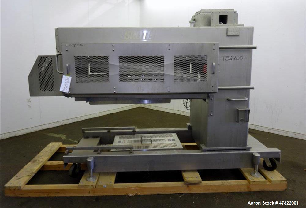 Used- Grote Model S/A-640-E Slicer/Applicator, Stainless Steel.