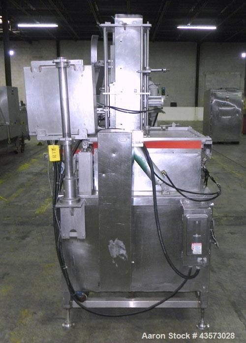 Used- Meat Machinery Manufacturers Meat Slicer. Mounted on a stainless steel frame.