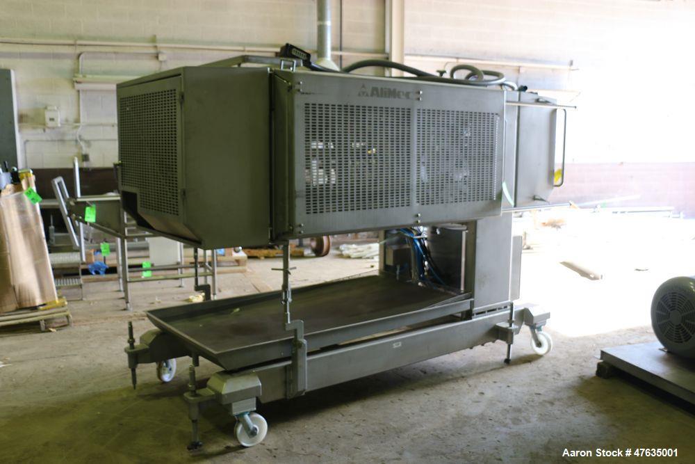 "Used-2009 Alimec S/S Peperoni Slicer, Model SLICER, S/N 628-54, 480 V, 3 Phase - 3-Station, Aprox. 14"" W x 13-1/2"" L Peperon..."