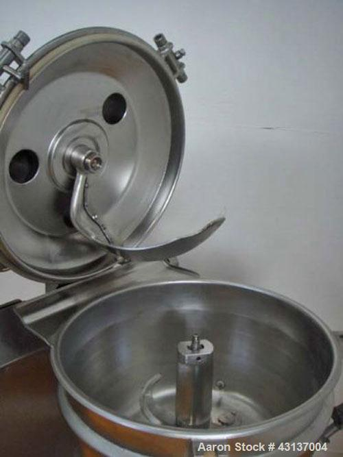Used-Stephan UMM/SK 40E-GN1 Mixer/Cutter, stainless steel on product contact parts, jacketed for steam/water, 10 hp/7.5 kW d...