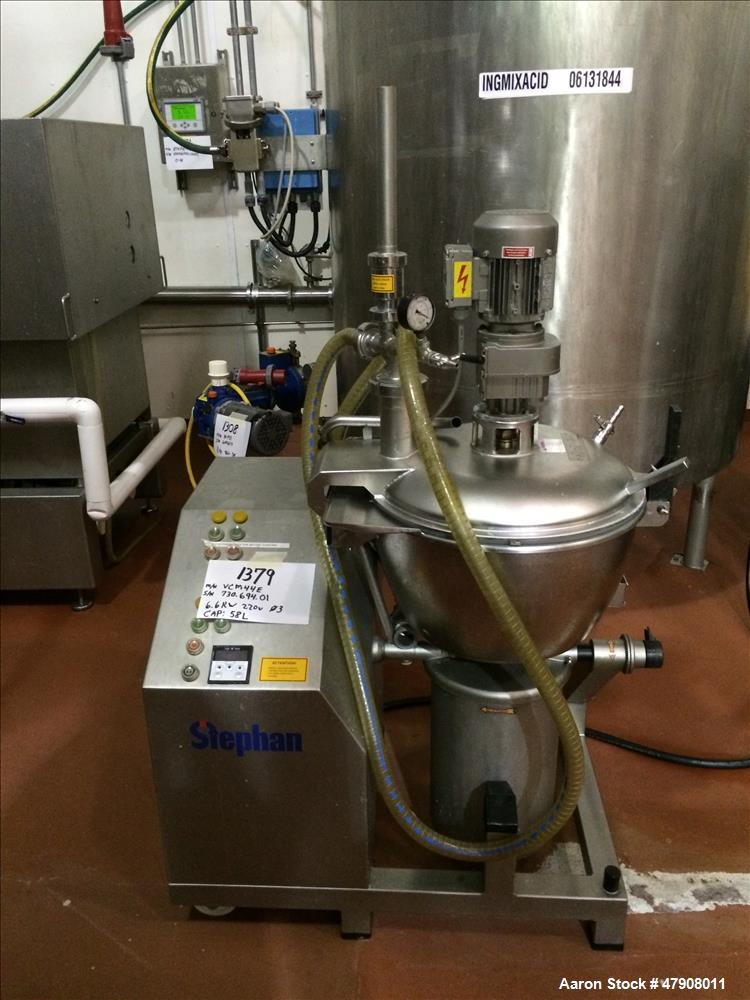 Used-Stephan Vertical Mixer/Cutter, Model VCM44E.  58L Capacity.  Serial # 730.694.01