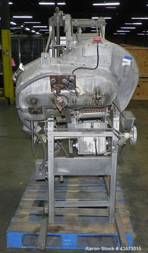 Used- Toby Model 480W Meat Slicer. Continuous loaf fed slicer able to slice up to 450 cycles/min. Able to slice a maximum lo...