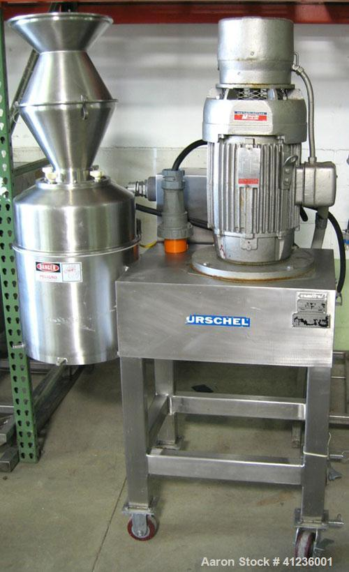 Used-Urschel Comitrol Processor, Model 1700. 15 hp, greasepack spindle, Urshalloy 3M030090 U cutting head, doglet impeller. ...