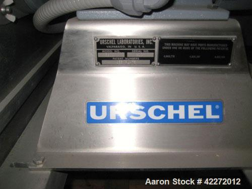 Unused- Urschel Comitrol Processor, model 3600, 304 stainless steel. Approximate 7'' diameter x 3'' deep cutting head, impel...