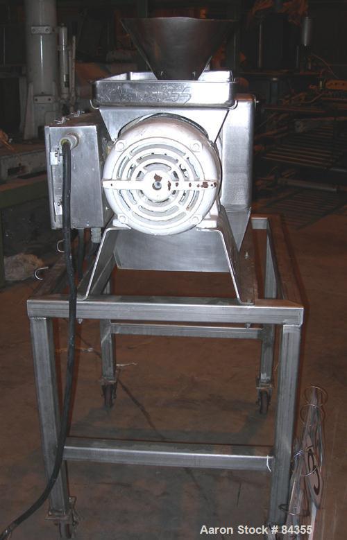 "USED: Urschel Comitrol processor, model 3600, 316 stainless steel. 3 blade impeller, 6"" inside diameter x approx 3"" deep mic..."