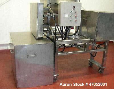 "Used- Urschel Comitrol Processor, Model 3640. Stainless, 3"" impeller ""dog leg"", cutting head, motor with electric brake, 40 ..."