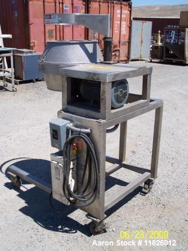 Used-Urschel Model CC Slicer.  Driven by 5 hp motor, stainless steel head and impeller, bronze gearbox, crinkle cut head wit...