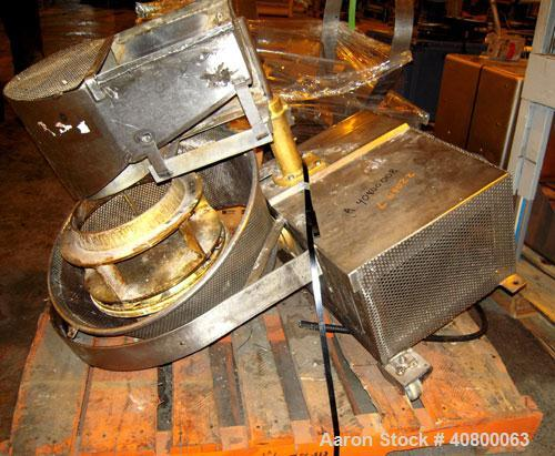 "Used- Urschel Slicer, Model CC, Stainless Steel. 14"" diameter cutting head, brass impeller, stainless steel crinkle cut slic..."
