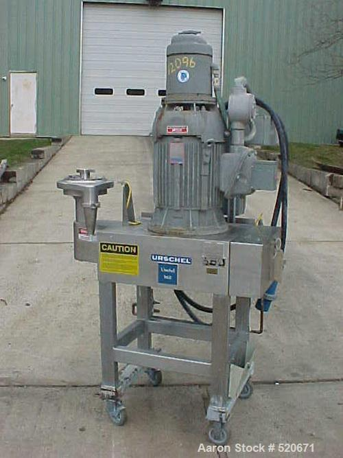 """USED: Urschel """"Comitrol"""" mill model 1500. Features all stainless steel construction with micro cut style head, 2"""" pipe inlet..."""