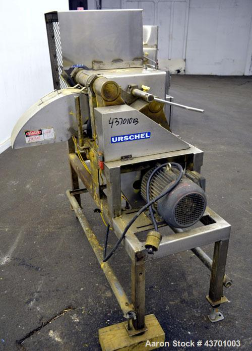 """Used- Urschel Model G Dicer. Unit is rated to 22,000 lbs per hour. Accepts up to a 5 1/2"""" diameter product log; utilizes sli..."""