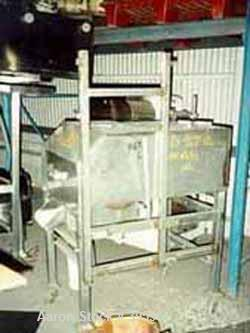 "Used- Urschel Slicer/Dicer, Model L, Stainless Steel. Approximately (2) 8"" wide rotors, driven by a 1/2 hp gearmotor. Capaci..."