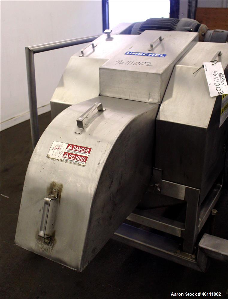 Used- Urschel Dicer, Strip Cutter, and Shredder, Model M, 304 Stainless Steel. Will produce square or rectangular dices from...