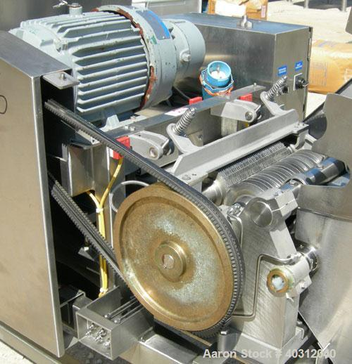 """Used- Urschel Dicer, Model M, 304 stainless steel. Designed for dicing or strip cutting food products. 11"""" wide x 60"""" long i..."""