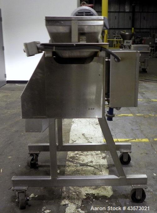 "Used- Urschel Model RA-A Dicer. USDA approved strip cutter and dicer. Unit will cut pieces as small as 1/16"" x 1/8"" x 1/16"" ..."